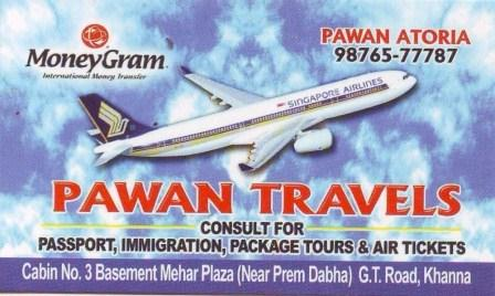 Pawan Travels & Passport Services - Khanna