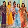 Buy Net with Lace Sarees Online with Blouse Piece from Teleshop.in - Delhi