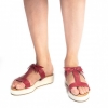 Buy Franko Red And White Platform Slip On for Women at PAIO Shoes - Mumbai