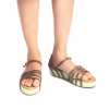 Buy Coen Green And Brown Platform Sandal for Women at PAIO Shoes - Mumbai